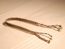 Brown and White Friendship Bracelet