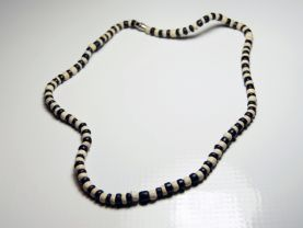 Black and White Bone Necklace