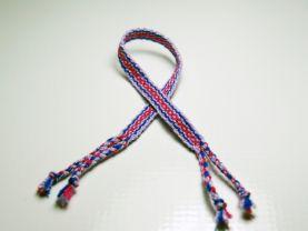 Red, Purple and Blue Friendship Bracelet