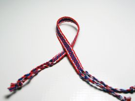 Red and Blue Friendship Bracelet