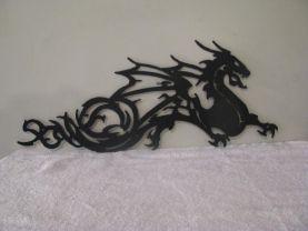 Dragon Metal Silhouette Wall Yard Art by Cabin Hollow