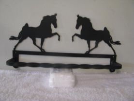 Walking Horse Towel Rack Metal Silhouette Wall Art