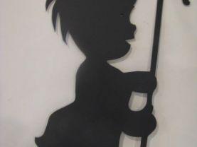 Little Shepherd Boy Metal Wall Art Silhouette