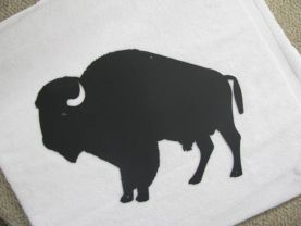 Buffalo Metal Wall Art Silhouette