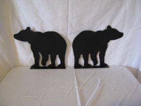 Bear 002 Mailbox Topper Metal Wall Art Silhouette Set of (2)
