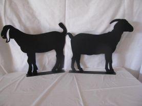 Goat Mail Box Topper Set of 2 Metal Wall Art Farm Silhouette