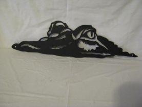Alligator 005 Metal Wall Art Wildlife Silhouette