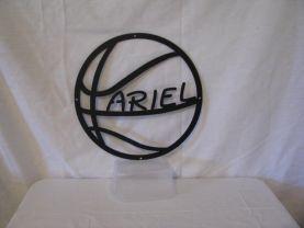 Personalize Basketball Metal Sports Wall Art Silhouette