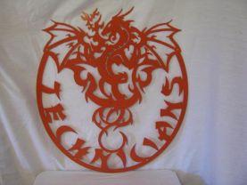 Customized Dragon 002 Metal Wall Art Silhouette