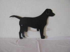 Dog Leash/Key Holder Metal Wall Art Silhouette