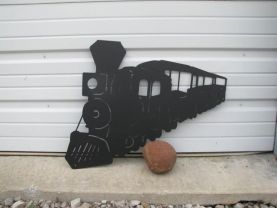 Train 012 Metal Wall Art Silhouette