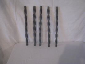 Twisted Pickets 12 in. Set (6) Metal