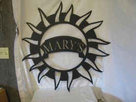 Customize Metal Sign Star 66 with Name Wall Yard Art Silhouette