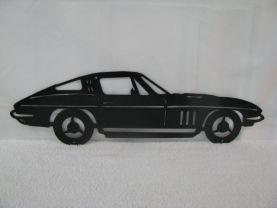 Car 30 Silhouette Metal Wall Art