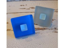 Two Seaglass Cabinet Knobs Beach Glass Drawer Pulls Stainless