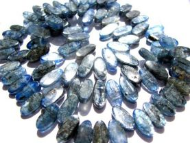 gemstone horse eye marquise  blue natural kyanite loose bead 4x12mm  90pcs full strand