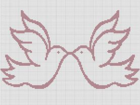 Wedding Doves Crochet Pattern Afghan Graph E-Mailed.PDF