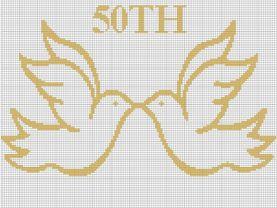 50TH Anniversary Doves Crochet Pattern Graph E-MAILED.PDF #339
