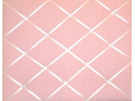 Pink Gingham French Message Board
