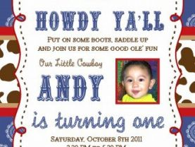 Cowboy Western Theme Invitations