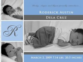 3 photos Baby Announcements