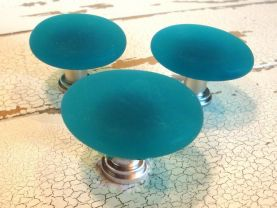 Freeform Beach Glass Cabinet Knobs