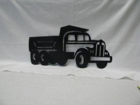 "60'""s Kenworth Dump Truck Medium Metal Wall Yard Art Silhouette"