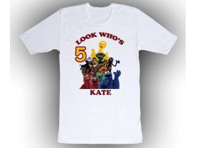Sesame Street Personalized Custom Birthday White Shirt in sizes Toddler 2T to Adult XL
