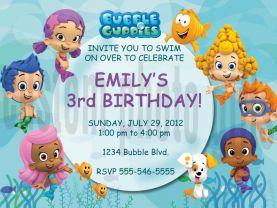 Bubble Guppies Invitation Personalized Birthday Digital File