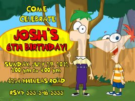 Phineas and Ferb Invitation Personalized Birthday Digital File