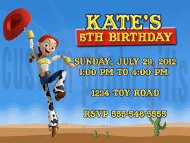Toy Story Jessie Invitation Personalized Birthday Digital File