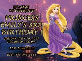 Disney Rapunzel Tangled Invitation Personalized Birthday Digital File