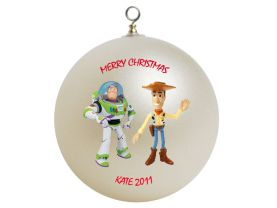 Toy Story Buzz Lightyear and Woody Personalized Custom Christmas Ornament