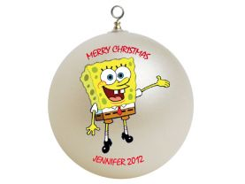 Spongebob Squarepants Personalized Custom Christmas Ornament