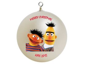 Sesame Street Bert and Ernie Personalized Custom Christmas Ornament