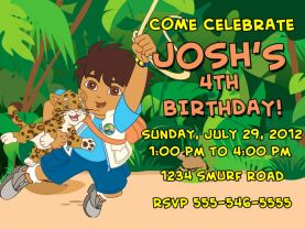 Go Diego Go Invitation Personalized Birthday Digital File
