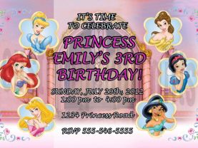 Disney Princesses Invitation Personalized Birthday Digital File