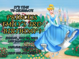 Disney Cinderella Invitation Personalized Birthday Digital File