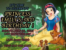 Disney Princess Snow White Invitation Personalized Birthday Digital File