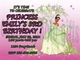 Disney Princess Tiana Invitation Personalized Birthday Digital File