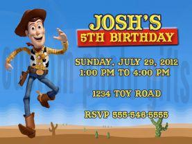 Toy Story Woody Invitation Personalized Birthday Digital File