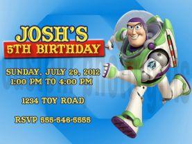 Toy Story Buzz Lightyear Invitation Personalized Birthday Digital File