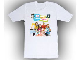 The Fresh Beat Band Custom White Shirt in sizes Toddler 2T to Adult XL