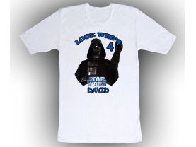 Star Wars Darth Vader Personalized Custom Birthday White Shirt in sizes Toddler 2T to Adult XL