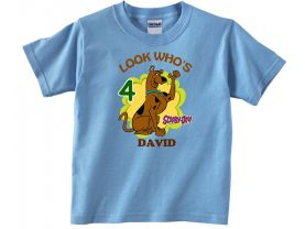 Scooby Doo Custom Birthday Pink or Blue Shirt in sizes Toddler 2T to Youth XL