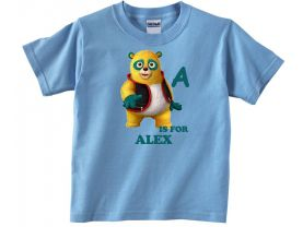 Special Agent Oso Personalized Custom ABC Birthday Pink or Blue Shirt in sizes Toddler 2T to Youth XL