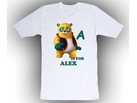 Special Agent Oso Personalized Custom ABC Birthday White Shirt in sizes Toddler 2T to Adult XL