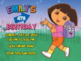 Dora the Explorer Invitation Personalized Birthday Digital File