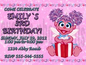 Sesame Street Abby Cadabby Invitation Personalized Birthday Digital File