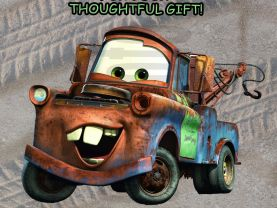 Cars Tow Mater Thank You Card Personalized Birthday Digital File